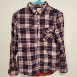 FOREVER 21 PLAID BUTTON DOWN LONG SLEEVE SHIRT S